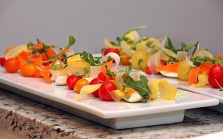 Warsaw's molecular gastronomy style salad for the KitchenSurfing dinner.